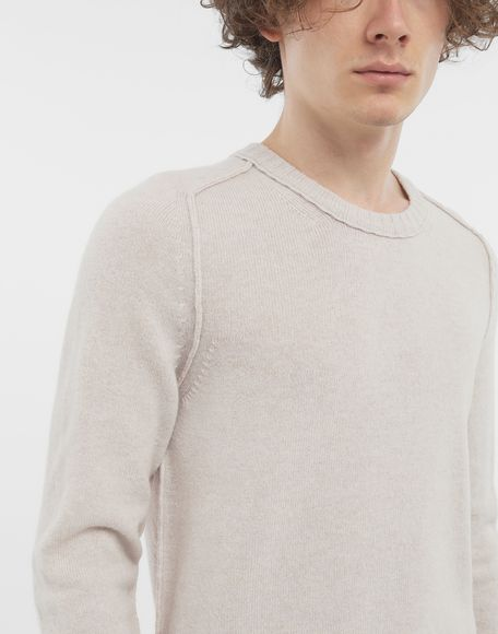 MAISON MARGIELA Elbow patch wool sweater Crewneck Man b