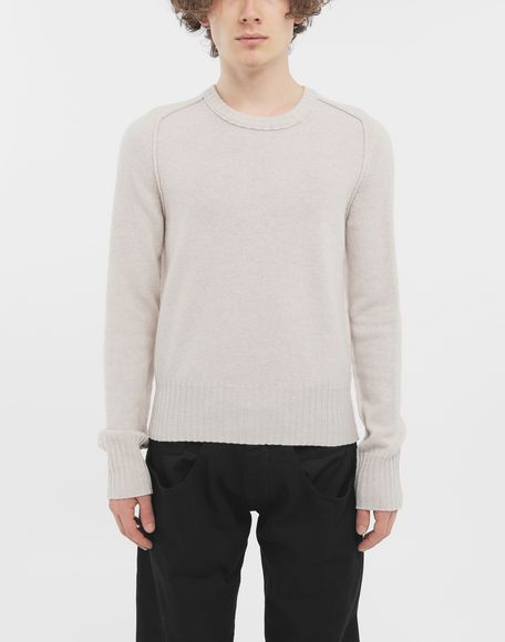 MAISON MARGIELA Elbow patch wool sweater Crewneck Man r