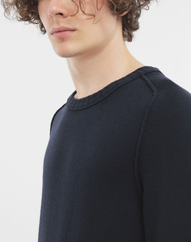 KNITWEAR Elbow patch wool sweater Blue
