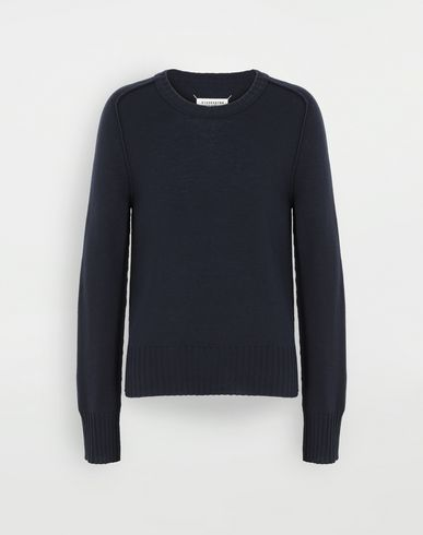 SWEATERS Elbow patch wool sweater Blue