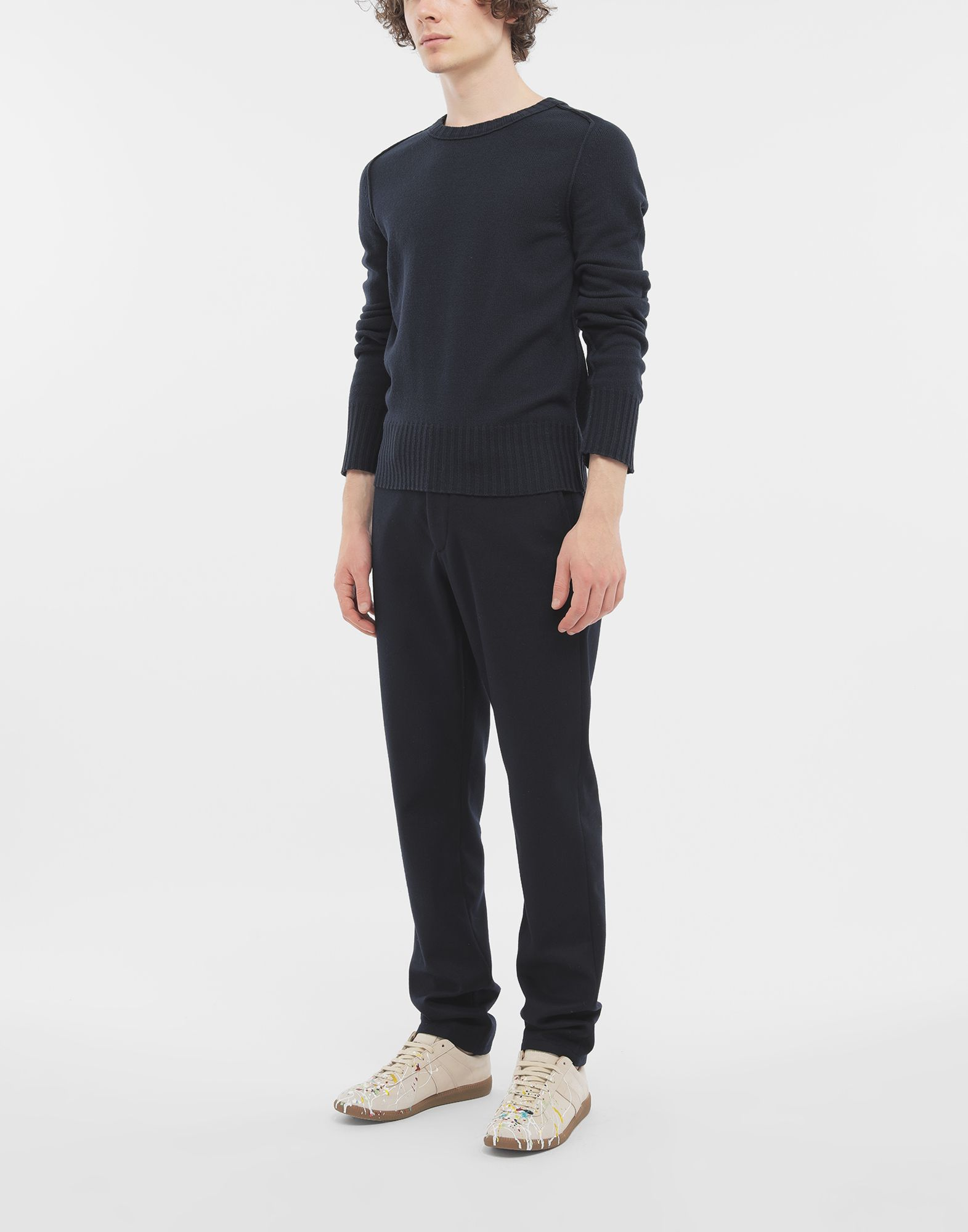 MAISON MARGIELA Elbow patch wool sweater Crewneck sweater Man d