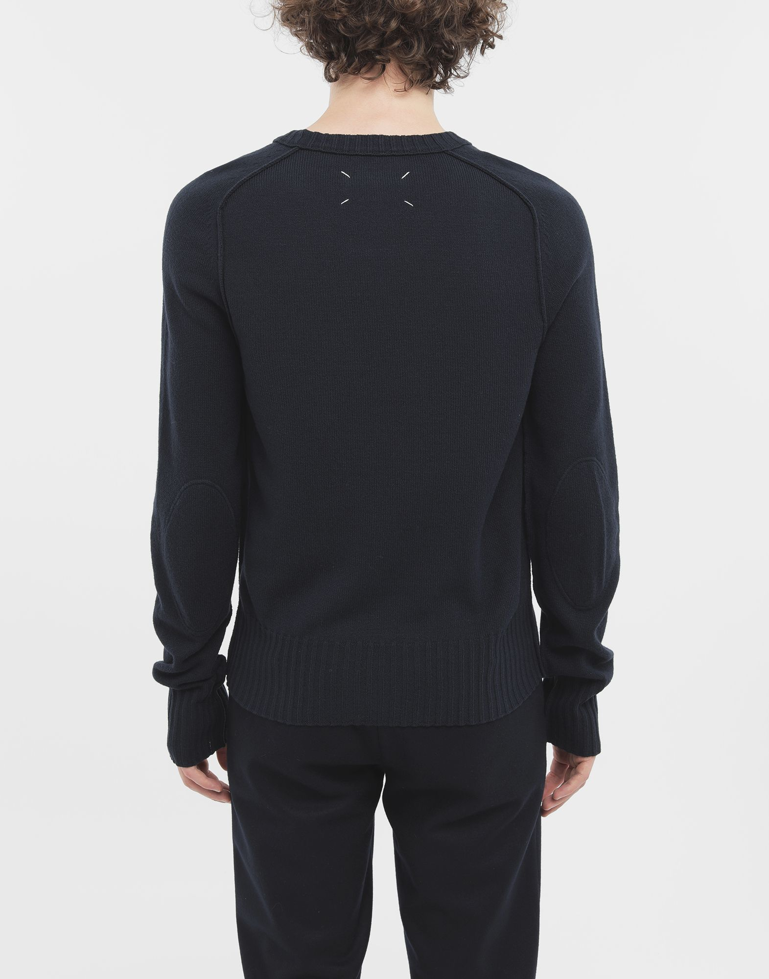 MAISON MARGIELA Elbow patch wool sweater Crewneck sweater Man e