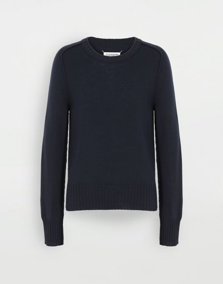 MAISON MARGIELA Elbow patch wool sweater Crewneck sweater Man f