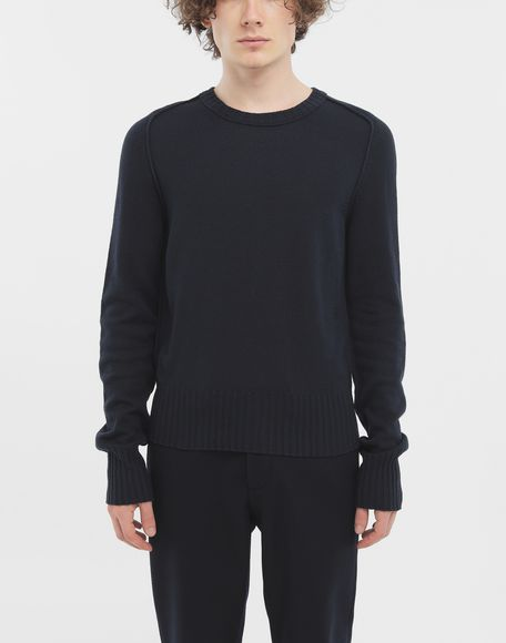 MAISON MARGIELA Elbow patch wool sweater Crewneck sweater Man r