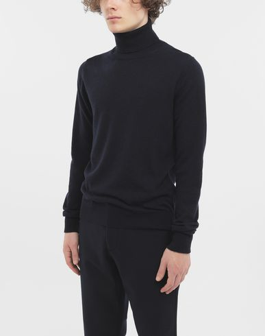 SWEATERS High-neck pullover  Blue