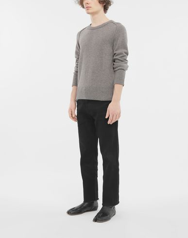 KNITWEAR Elbow patch wool sweater Dove grey