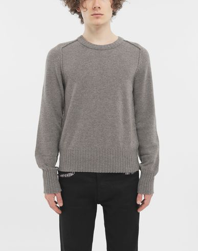 SWEATERS Elbow patch wool sweater Dove grey