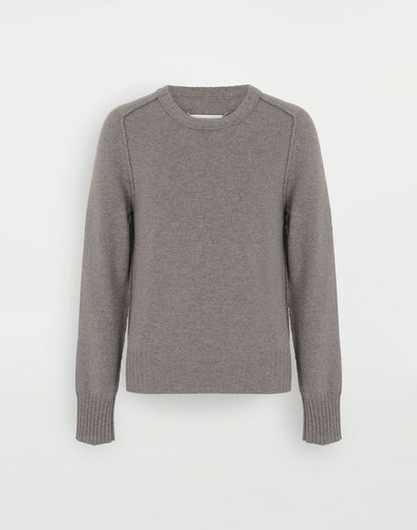 MAISON MARGIELA Elbow patch wool sweater Crewneck Man f