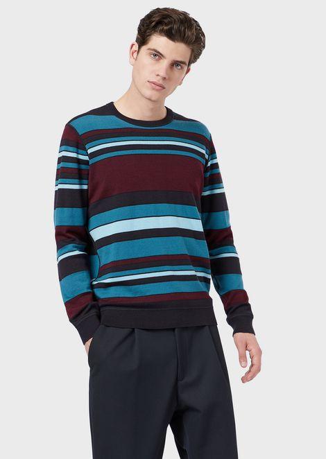 Reversible virgin mixed wool sweater
