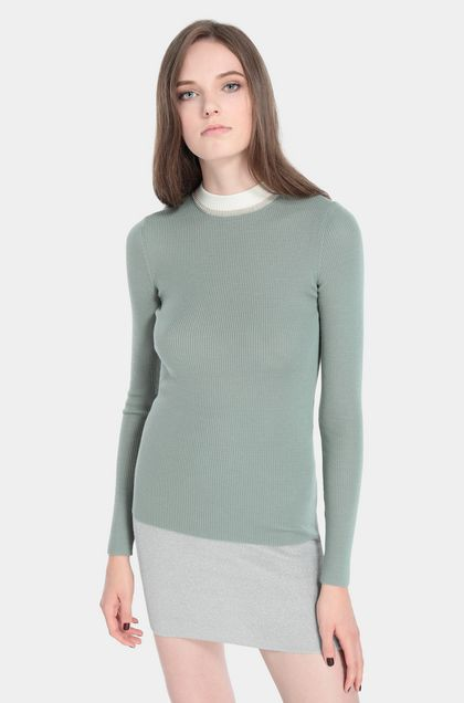 MISSONI Sweater Military green Woman - Front