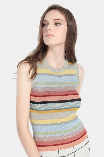 MISSONI Top Sky blue Woman - Front