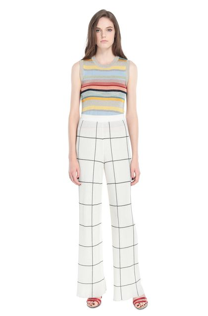 MISSONI Top Sky blue Woman - Back