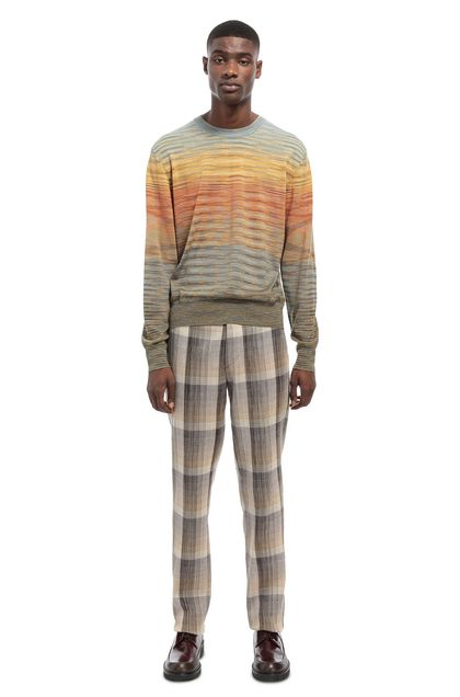 MISSONI Ras-de-cou Orange Homme - Devant