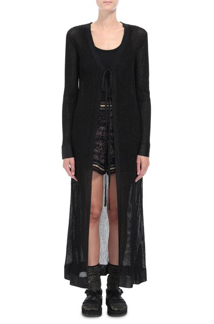 M MISSONI Long cardigan Black Woman - Back