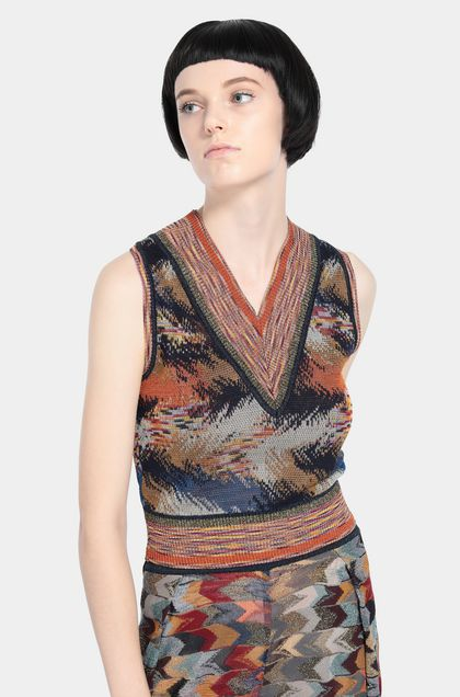 MISSONI Vest Rust Woman - Front