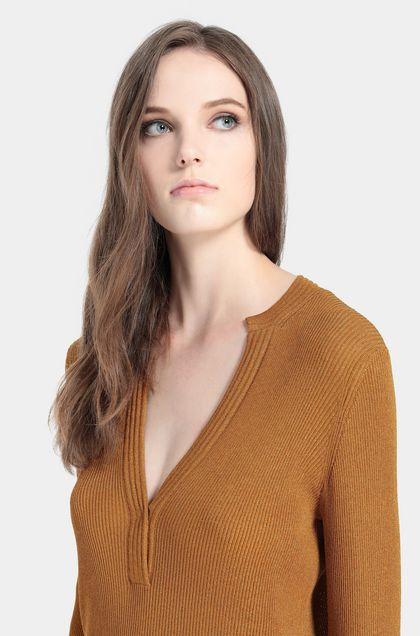 MISSONI V-Neck Ochre Woman - Front