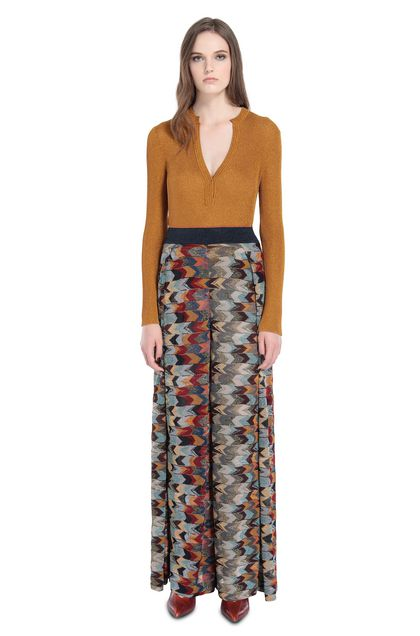 MISSONI V-Neck Ochre Woman - Back
