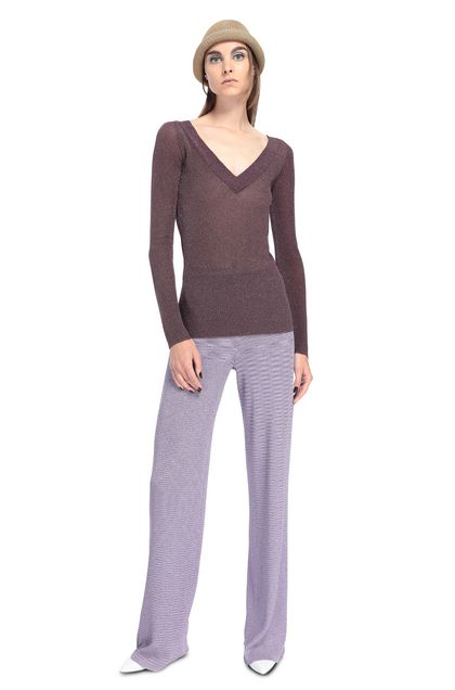MISSONI V-Neck Deep purple Woman - Back