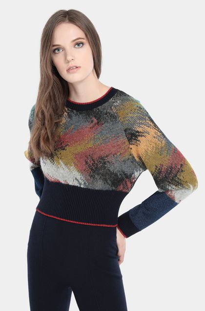 MISSONI Crew-neck Dark blue Woman - Front