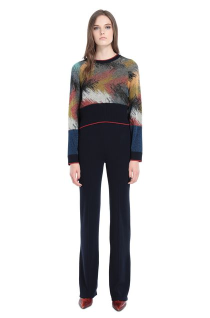 MISSONI Crew-neck Dark blue Woman - Back
