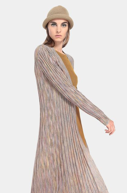 MISSONI Long cardigan Light pink Woman - Front