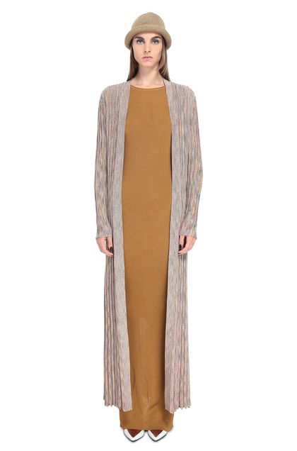 MISSONI Long cardigan Light pink Woman - Back