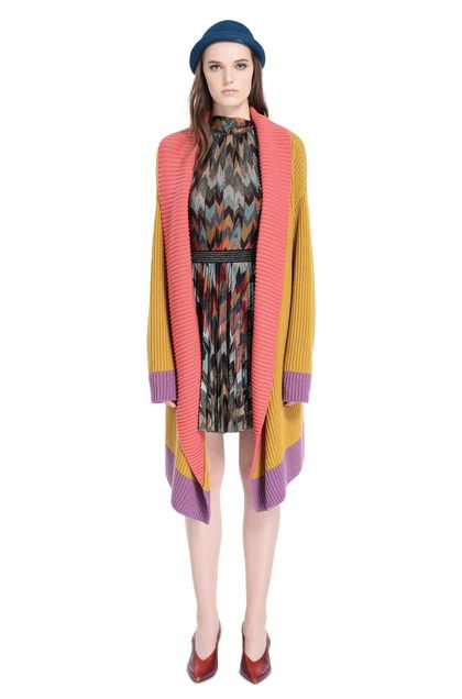 MISSONI Long cardigan Ochre Woman - Back