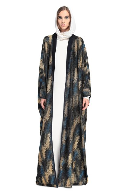MISSONI Long cardigan Dark blue Woman - Back