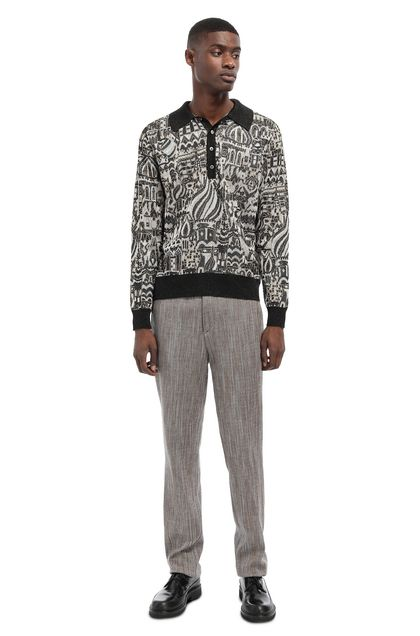 MISSONI Sweater Dark brown Man - Front