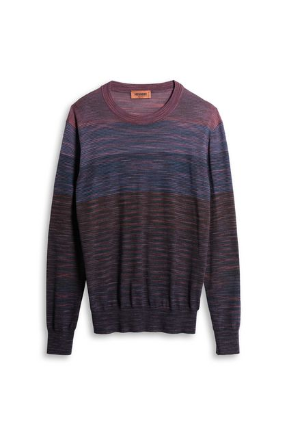 MISSONI Sweater Light purple Man - Back