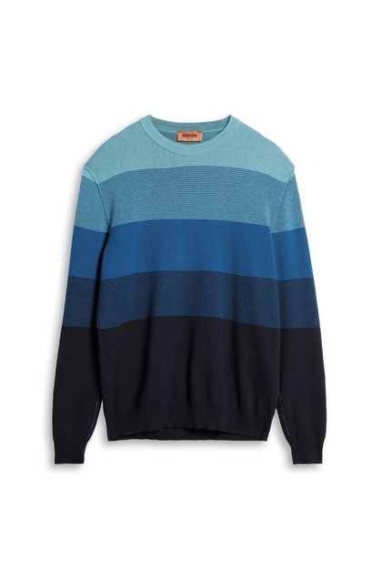 MISSONI Sweater Blue Man - Back