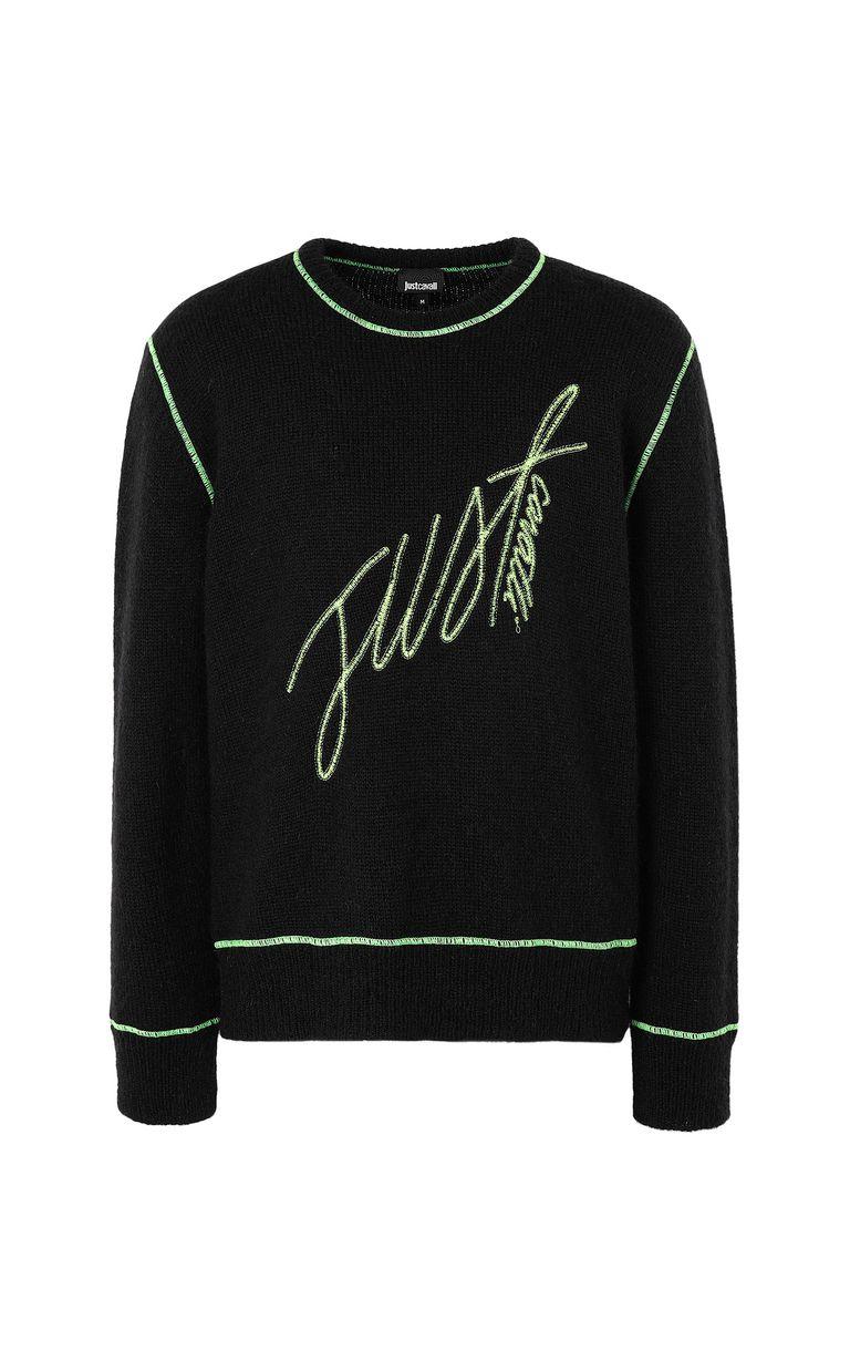 JUST CAVALLI Pullover with logo Crewneck sweater Man f