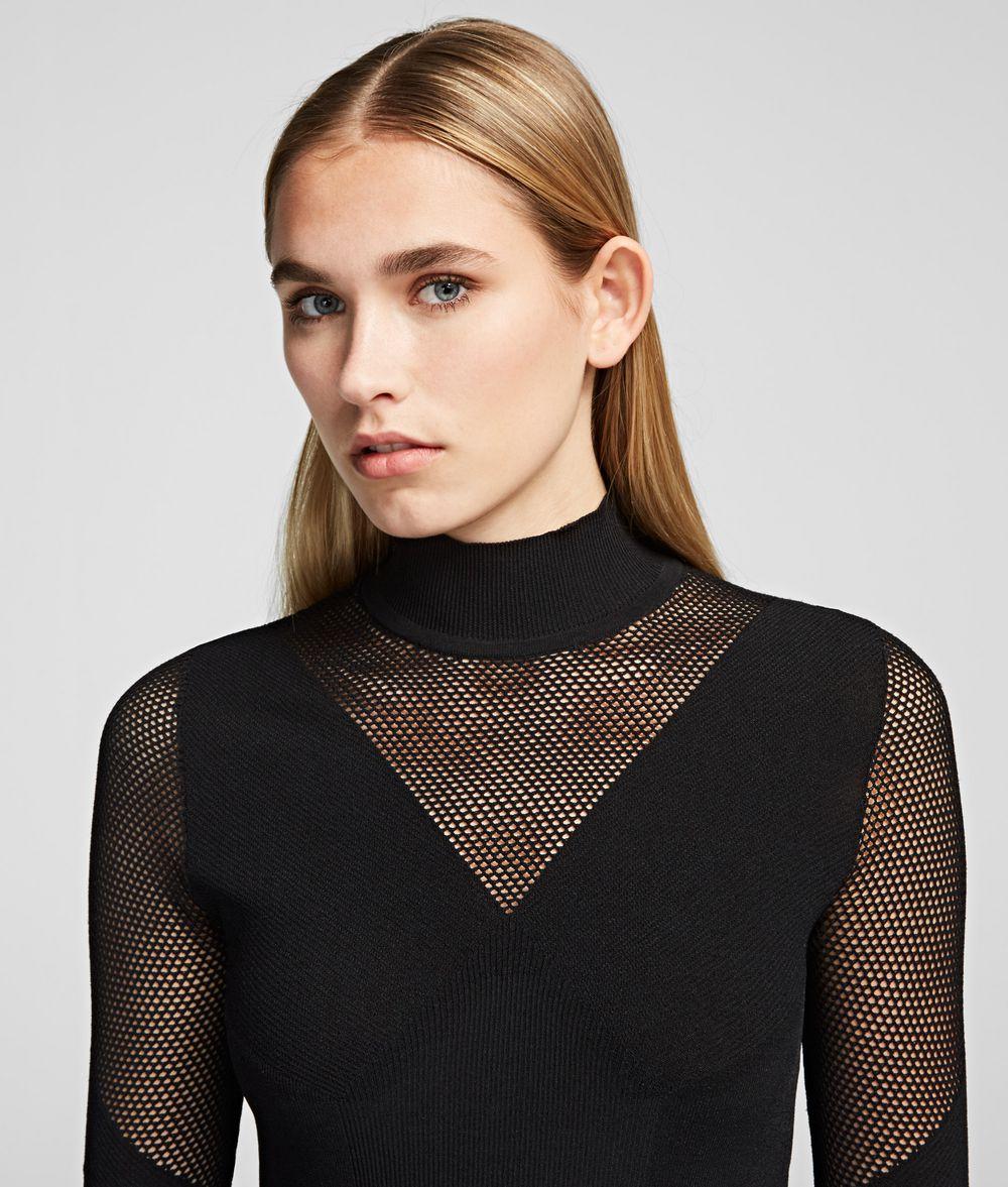 KARL LAGERFELD Pointelle Jumper Sweater Woman d