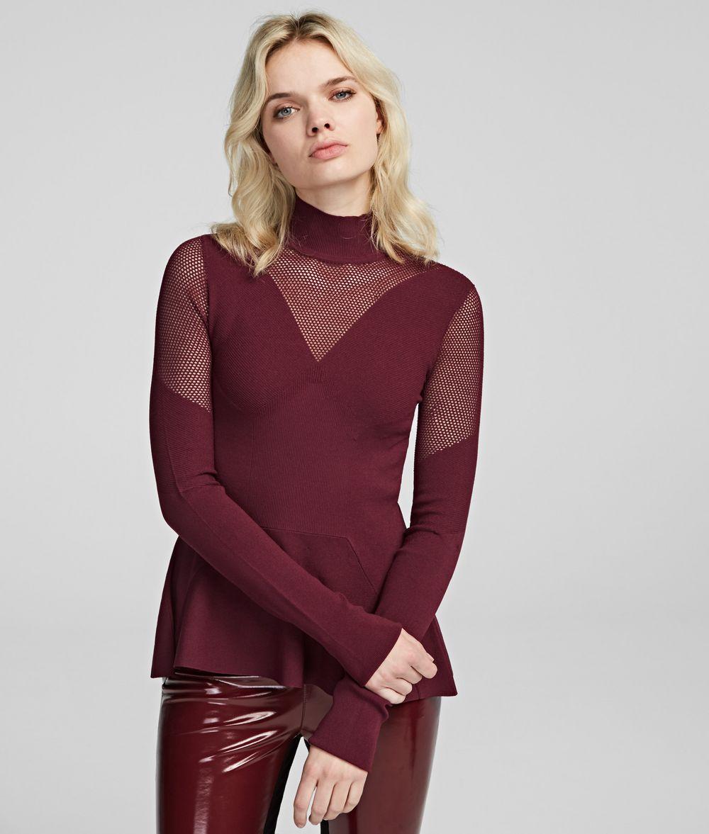 KARL LAGERFELD Pointelle Jumper Sweater Woman f