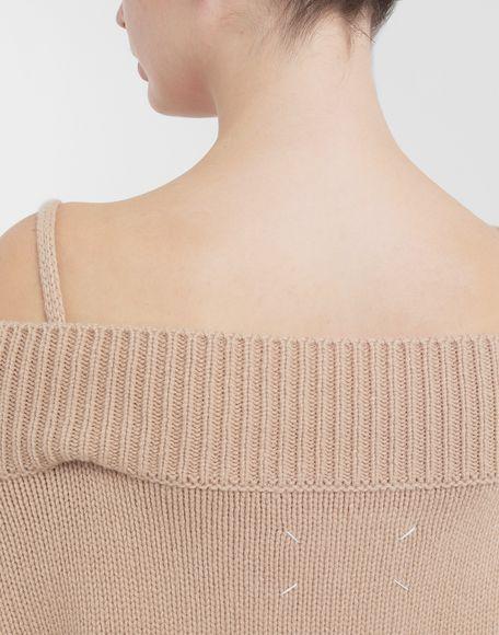 MAISON MARGIELA Unterschiedlich tragbarer Pullover Pullover mit V-Ausschnitt Dame e