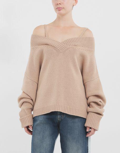 MAISON MARGIELA Unterschiedlich tragbarer Pullover Pullover mit V-Ausschnitt Dame r