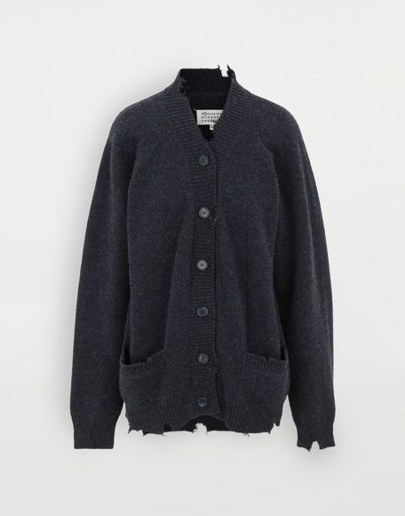 MAISON MARGIELA Destroyed wool cardigan Cardigan Woman f