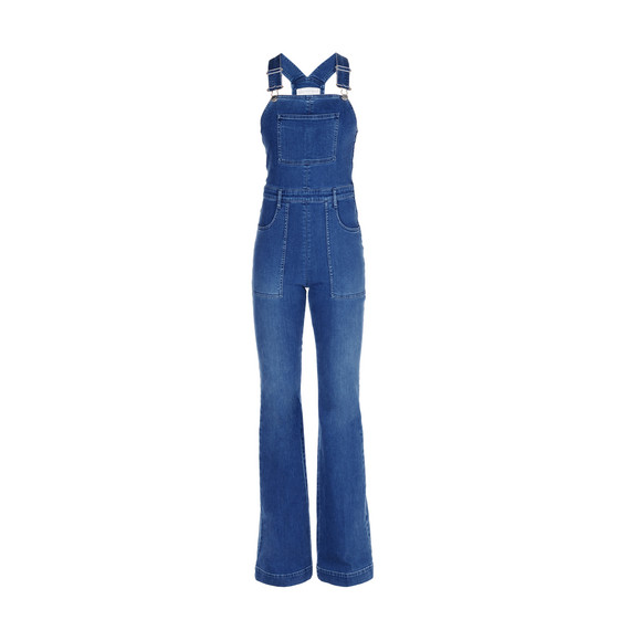 Pale Blue Denim Dungarees
