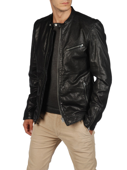 DIESEL LOSHEKA Leather jackets U f
