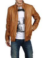 DIESEL LERMES Leather jackets U f