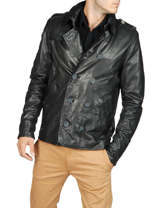 DIESEL LAHAR Leather jackets U f