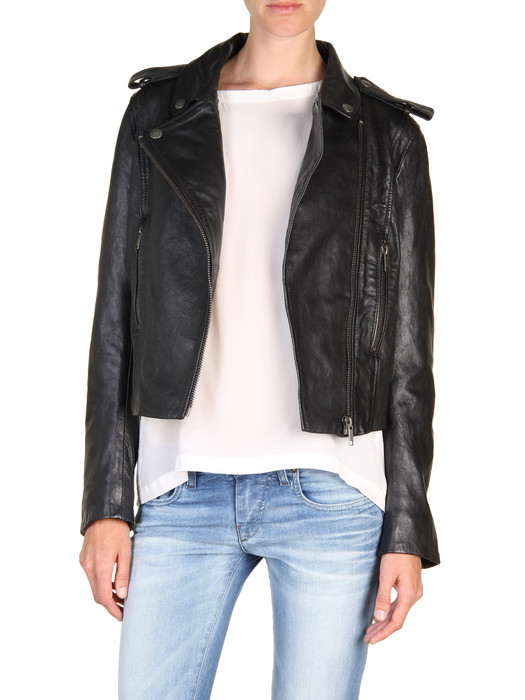 DIESEL L-MARLENE Leather jackets D f