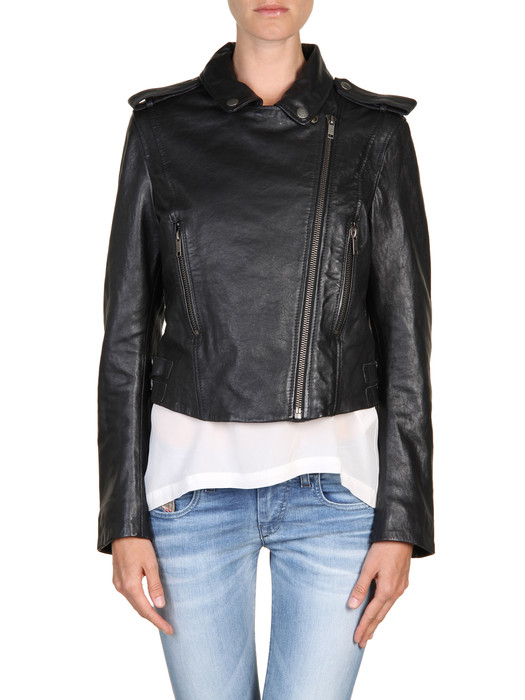 DIESEL L-MARLENE Leather jackets D e