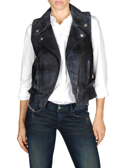DIESEL L-COLINE Leather jackets D f