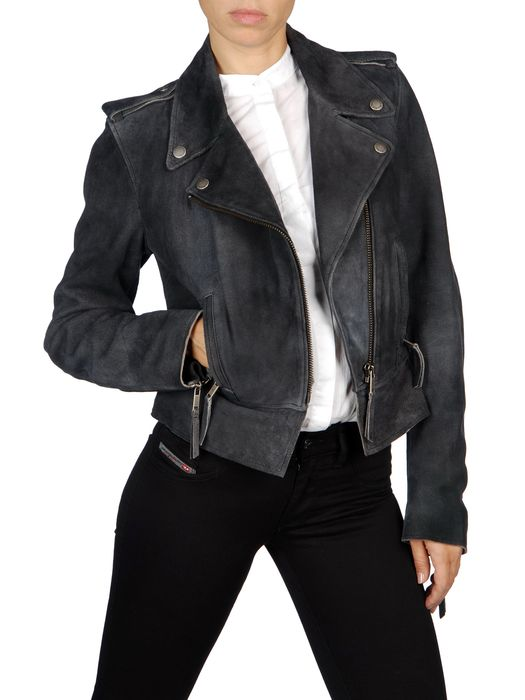 DIESEL L-PREMISE Leather jackets D f