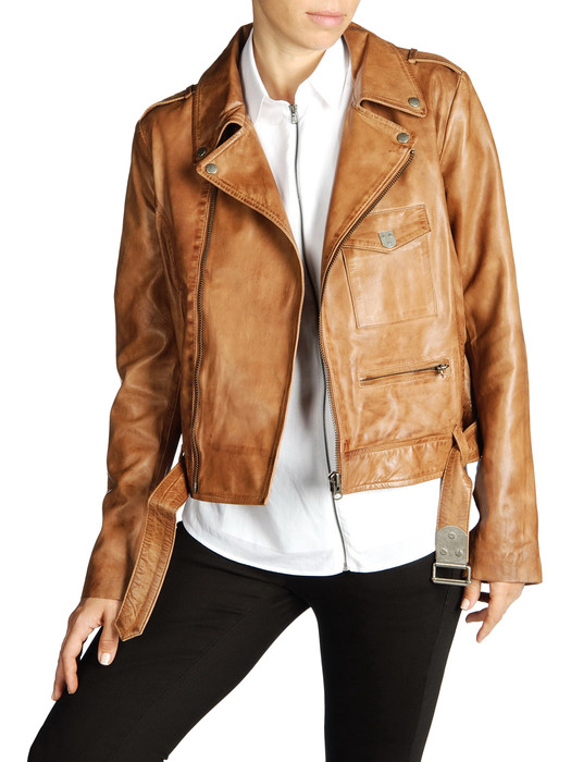 DIESEL BLACK GOLD LAVAN Leather jackets D e