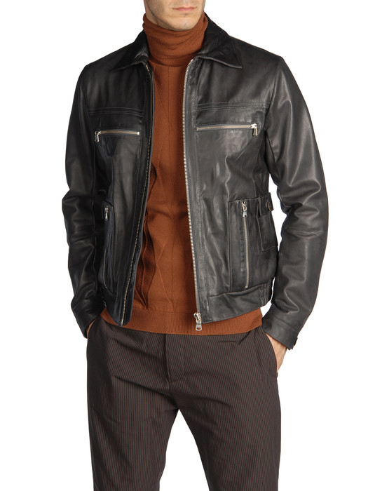 DIESEL BLACK GOLD LEVONY Leather jackets U e