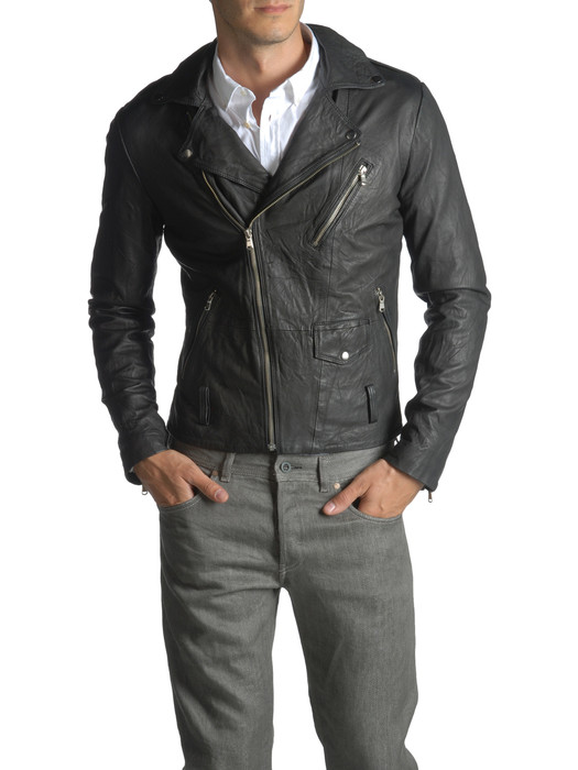 DIESEL BLACK GOLD LERFECTO-ES Leather jackets U e
