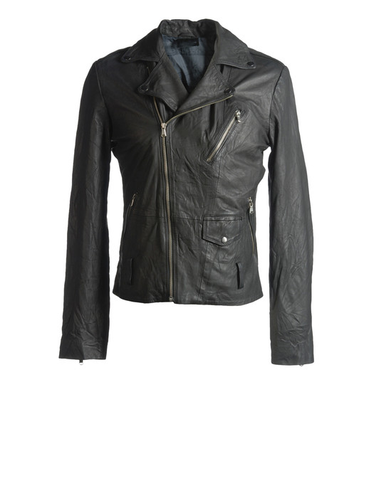 DIESEL BLACK GOLD LERFECTO-ES Leather jackets U f