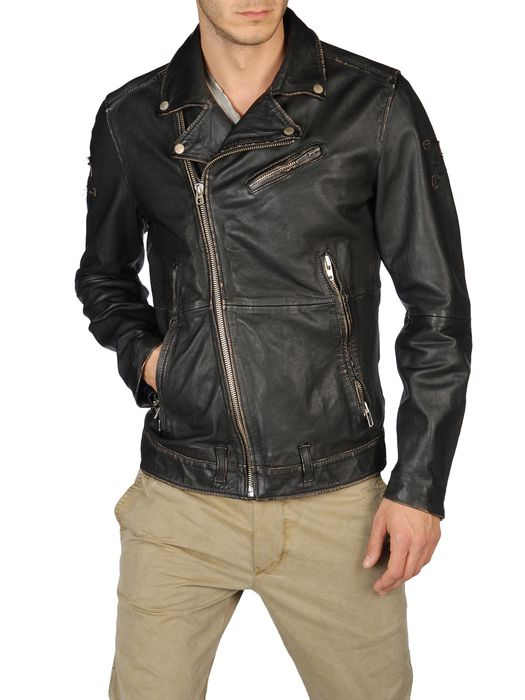 DIESEL LAPISMIUM Leather jackets U f